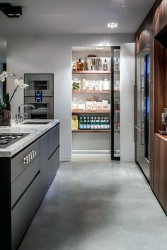 Top 70 Best Kitchen Pantry Ideas - Organized Storage Designs From space-conscious cabinets to walk-in shelving, discover the top 70 best kitchen pantry ideas. Explore organized storage designs for your culinary goods. Kitchen Pantry Storage, Pantry Room, Kitchen Pantry Design, Modern Kitchen Design, Home Decor Kitchen, Interior Design Kitchen, Kitchen Ideas, Kitchen Organization, Pantry Shelving
