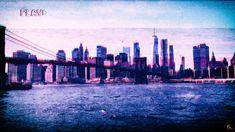 Brooklyn Bridge wallpaper, New York City, VHS, vaporwave, Photoshop, glitch art Bridge Wallpaper, Lit Wallpaper, Brooklyn Bridge New York, Brooklyn City, Time Lapse Photography, City Aesthetic, Glitch Art, Vaporwave, Aesthetic Wallpapers