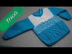 (141) DIY - Tricô - Casaquinho Mesclado Tam. 06 Meses Parte 1/2(Passo a Passo) - YouTube