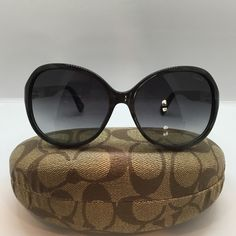 "Authentic Coach Sunglasses These ""Summer"" sunglasses are black with a grey shimmer and dark lens. Coach Accessories Sunglasses"