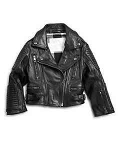 Little Marc Jacobs - Toddler's & Girl's Leather Motocross Jacket ...