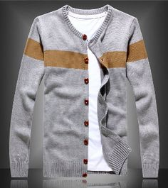 Men's Color Block Cardigan