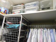 Elfa-system:  walk-in closet right side