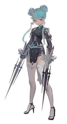 Female Character Design, Character Design References, Character Design Inspiration, Character Art, Character Types, Morgana League Of Legends, Akali League Of Legends, Pretty Art, Cute Art