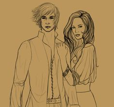 Rand and Aviendha WIP by livska.deviantart.com
