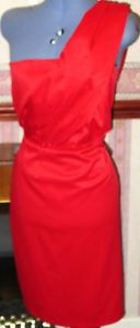 F&F ladies,size 16,calf length,fully lined,one shouldered,red party dress. Fab party dress only £12-99p.