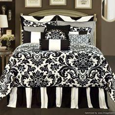 black and white toile bedding full