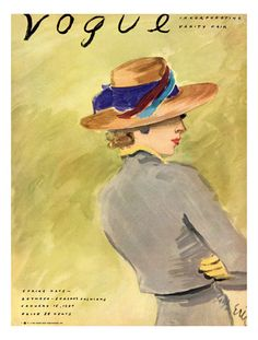 Vogue Cover - January 1937 reproduction procédé giclée