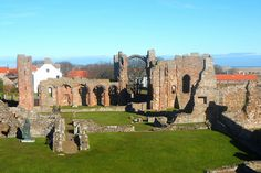 Lindisfarne Priory on Holy Island in Northumberland, England