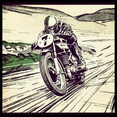 Looks like Racer X riding a café racer...