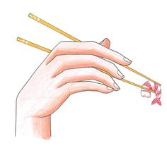 How to draw Hand with Chopsticks