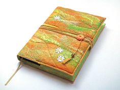 Felt Notebook, Sketchbook, Journal Cover, A5, Handmade Felt, 'Sunshine' £35.00