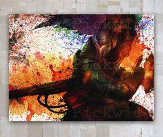 Yasuo League of Legends watercolor Digital Poster by GOLDIDI