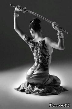 tattooed warrior woman