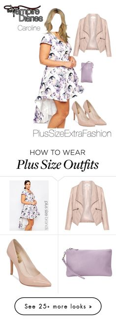 """""""Caroline Inspired Plus Size Spring Party Outfit"""" by plussizeextrafashion on Polyvore featuring Truly You, Zizzi and Vince Camuto"""