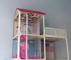 AMAZING VINTAGE BARBIE HOUSE 80'S ULTRA RARE COLLECTIBLE HUGE RARE MATTEL TOY…