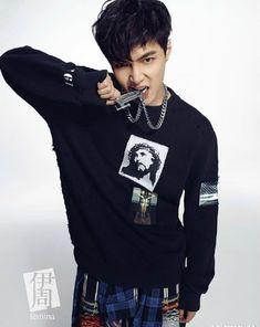 EXO's Lay is a stylish tough guy for Chinese magazine 'Femina' | allkpop.com