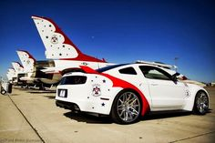 The engineering and design teams at Ford Motor Company have produced a unique U.S. Air Force Thunderbirds Edition 2014 Ford Mustang GT. This car will be donated by Ford to be sold at the Gathering of Eagles charity event on Thursday, Aug. 1 during the Experimental Aircraft Association (EAA) AirVenture Oshkosh 2013
