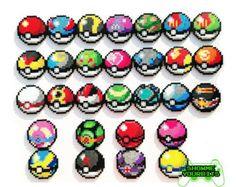 Pokemon Perler Bead leichter Fall Pokeball Asche von LighterCases