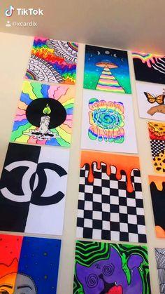 Easy Canvas Art, Simple Canvas Paintings, Small Canvas Art, Mini Canvas Art, Pintura Hippie, Indie Drawings, Hippie Wallpaper, Hippie Painting, Indie Art