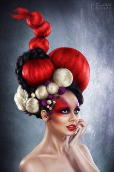 Fireball by Danyjil Shukhnin Artistic hairstyles #hair #hairstyle #hairdressers #artistichair #avantgarde #avantgardehair #handmade #inspiration #hairinspiration