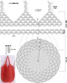 코바늘로 뜬 코바늘그물가방 가볍고 시원해 보이는 코바늘 그물가방입니다.