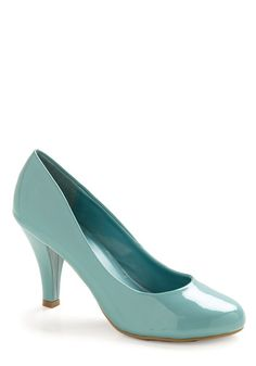 "4. Something Blue, 12. ""The Perfect Modcloth Shoe"". A classic shoe with a beautiful color twist. #modcloth #wedding"