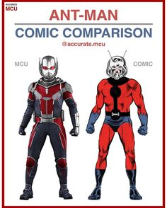 • ANT-MAN - COMIC COMPARISON • Ant-Man is such a unique and awesome character and i can't believe th - accurate.mcu
