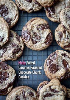 Melty! Salted Caramel Hazelnut Chocolate Chunk Cookies