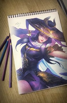 Mobile Legends - Fanny Skylark Time Taken: Roughly 20 hours Materials used: - Faber-Castell Watercolor Pencils - Clairefontaine Sketchpad - Faber-Cas. Mobile Legend Wallpaper, Hero Wallpaper, Hd Wallpapers For Mobile, Gaming Wallpapers, Anime Sexy, Cool Drawings, Drawing Sketches, Hero Fighter, Miya Mobile Legends