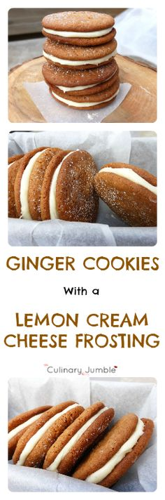 Ginger cookies can be enjoyed all year round, but why not dress them up a bit with a little lemon cream cheese frosting? Delicious!