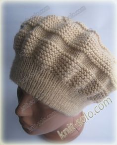 Beanie Knitting Patterns Free, Baby Booties Knitting Pattern, Free Knitting, Crochet Beret, Crochet Baby Hats, Knitted Blankets, Knitted Hats, Crochet Video, Knitted Slippers