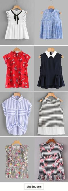 Sleeveless tops for summer Diy Summer Clothes, Summer Outfits, Girl Outfits, Casual Outfits, Cute Outfits, Hijab Fashion, Fashion Outfits, Kids Fashion, Womens Fashion