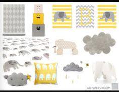Grey & yellow for nursery