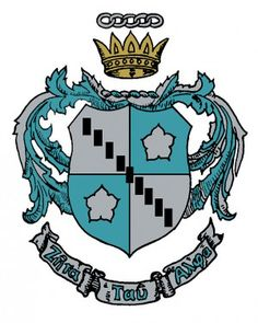 The colors of Zeta Tau Alpha are turquoise blue and steel gray.