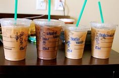 Get the drink orders from all of the bridal party and have for the morning of the wedding