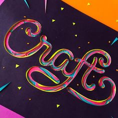 Craft #papercut #papercraft #art #lettering #typography