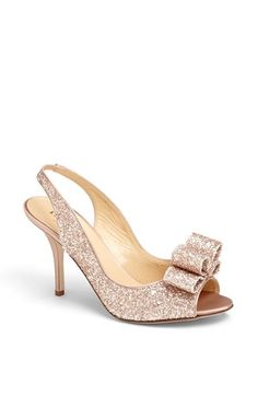 Love this kate spade rose gold glitter slingback pump http://rstyle.me/n/qwjfznyg6