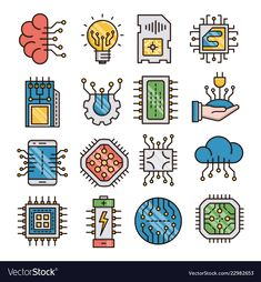 Electronics filled outline icons vector image on VectorStock Logo Desing, Computer Chip, Chip Art, Kids Cards, Cards Diy, Poster Design Inspiration, Iphone Background Wallpaper, Cards For Friends, Icon Design