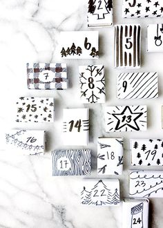 diy modern matchbox advent calendar I love advent calendars. Mostly because it's such a beautiful way to countdown the days until Christmas and partially because of the little treats – or in this case activities – t… Christmas Mood, Merry Little Christmas, Christmas Wrapping, Christmas Crafts, Christmas Tables, Nordic Christmas, Modern Christmas, Christmas Calendar, Wrap Gifts