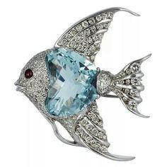 Fishy in blue topaz