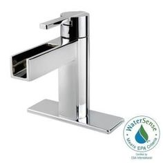 Pfister Vega 4 in. Centerset 1-Handle Waterfall Bathroom Faucet in Polished Chrome LF-042-VGCC at The Home Depot - Mobile