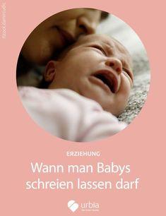 """Darf man Babys schreien lassen? """"Nein"""", rufen fast alle Eltern im Chor. Zu Recht. Mit einer kleinen Einschränkung. Es kann auch wichtig sein, ein wenig standhaft zu bleiben und nicht sofort nachzugeben. #baby #babys #eltern #frau #mutter #vater #kind #entwicklung #schreiendesbaby"""