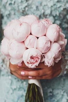 blush wedding bouquets small with peonies littavictoria via instagram