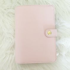 Kikki K Leather Personal Planner. Made from genuine leather Matching cotton lining. Kikki K Planner, Monthly Planner, Black Pen Sketches, Chanel Beauty, Leather Notebook, Pink Brand, Stationery Set, Marker Art, Pen Sets
