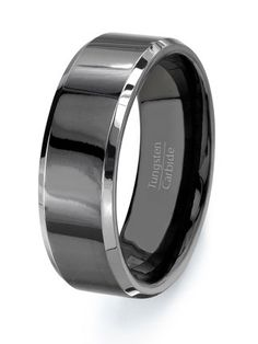 Black Tungsten Ring Wedding band  HIGH QUALITY  by TungstenOmega