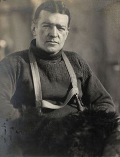 Sir Ernest Shackelton was a key player in the Heroic Age of Antarctic Exploration. He helped his crew of 28 survive in the elements of the Antarctic for a year and a half after their ship sank. A true beast of a man.