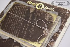 A detail from my handmade vintage book