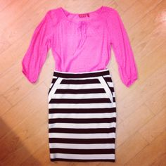 Two of our fave trends meet: stripes with a #WinkOfPink. #Kohls #Sponsored