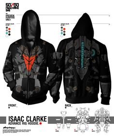 Dead Space Isaac Clarke hoodie. I may want to learn how to screen print so I can make this.